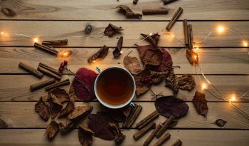 cup of tea and spices